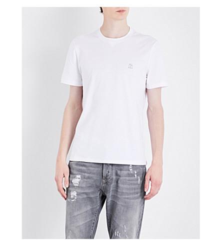BRUNELLO CUCINELLI Logo-detail cotton-jersey T-shirt (White