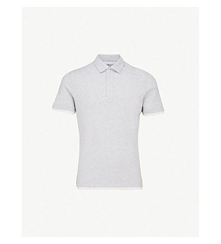 BRUNELLO CUCINELLI Slim-fit cotton-piqué polo shirt (Grey