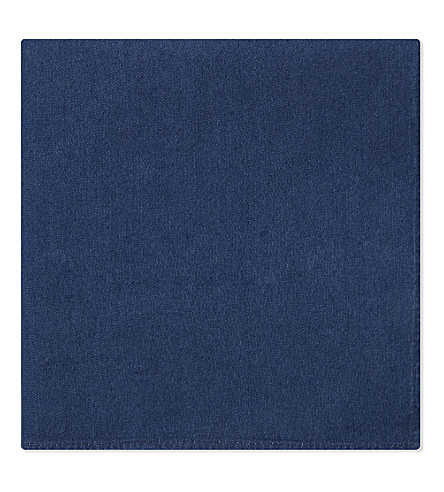 BRUNELLO CUCINELLI Chambray cotton pocket square (Multi+1