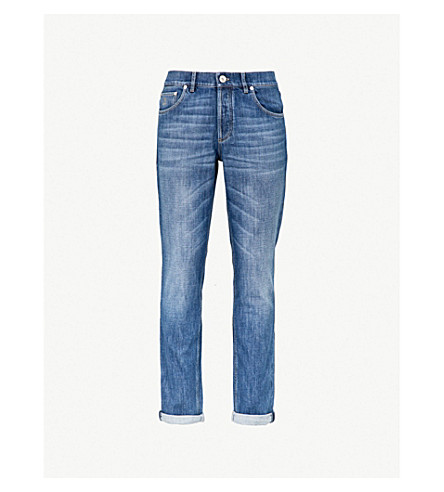 BRUNELLO CUCINELLI Traditional-fit skinny jeans (Mid+wash