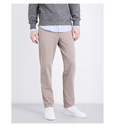 BRUNELLO CUCINELLI Traditional-fit skinny mid-rise cotton-twill chinos (Light+grey