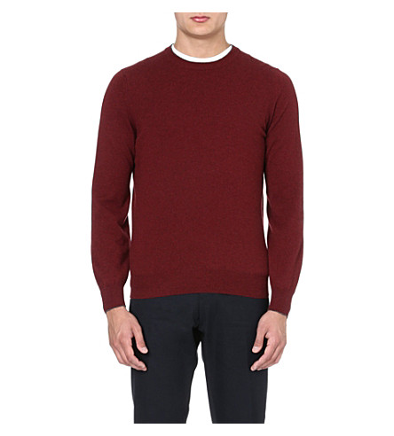 BRUNELLO CUCINELLI Long-sleeved cashmere jumper (Burgundy