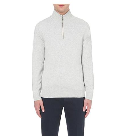BRUNELLO CUCINELLI Zip-detail cashmere jumper (Fog