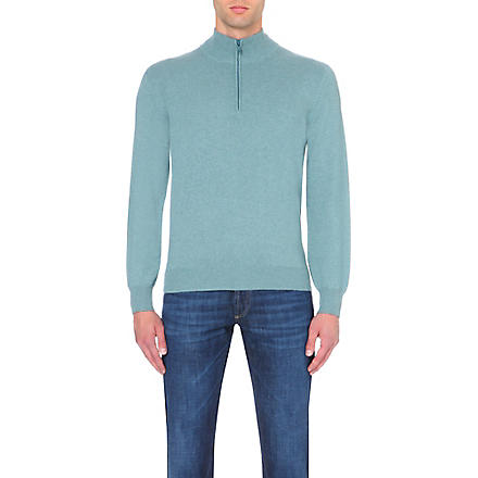 BRUNELLO CUCINELLI Long-sleeved cashmere jumper (Green