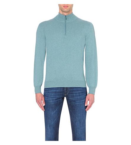 BRUNELLO CUCINELLI Long-sleeved cashmere jumper (Green