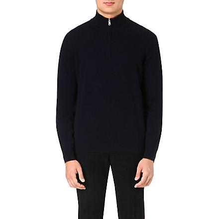 BRUNELLO CUCINELLI Long-sleeved cashmere jumper (Navy