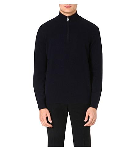 BRUNELLO CUCINELLI Zip-detail cashmere jumper (Navy