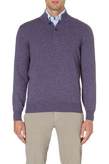 BRUNELLO CUCINELLI Button-neck cashmere jumper