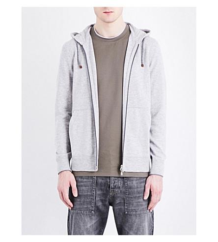 BRUNELLO CUCINELLI Cashmere hoody (Mid+grey