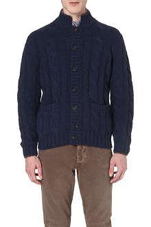 BRUNELLO CUCINELLI Cable-knit cashmere cardigan