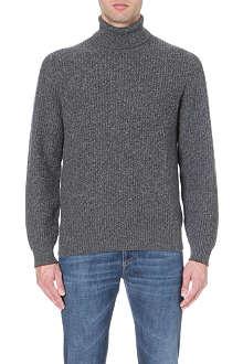 BRUNELLO CUCINELLI Ribbed roll-neck cashmere jumper