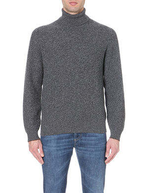 BRUNELLO CUCINELLI Ribbed roll-neck cashmere jumper