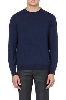BRUNELLO CUCINELLI Long-sleeved wool and cashmere jumper
