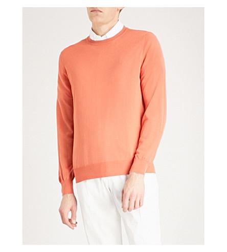 BRUNELLO CUCINELLI Crewneck wool and cashmere jumper (Orange