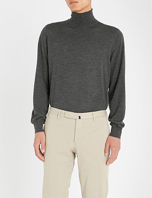 BRUNELLO CUCINELLI Wool and cashmere-blend roll-neck jumper