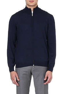 BRUNELLO CUCINELLI Long-sleeved cashmere zip-through cardigan