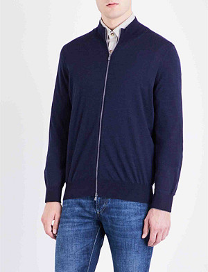 BRUNELLO CUCINELLI Zip-up cashmere cardigan