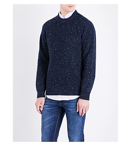 BRUNELLO CUCINELLI Textured cashmere jumper (Blue
