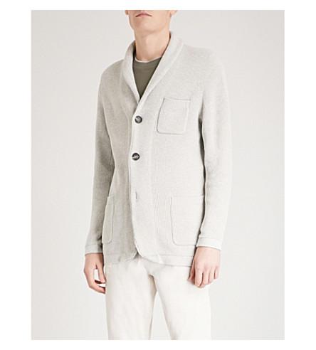 BRUNELLO CUCINELLI Shawl-lapel cotton cardigan (Light+grey