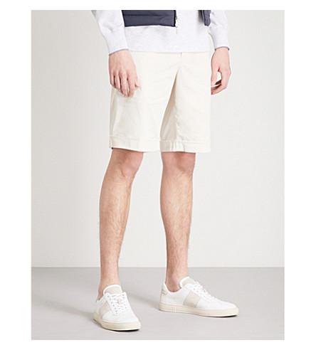 BRUNELLO CUCINELLI Slim-fit cotton shorts (Old+white