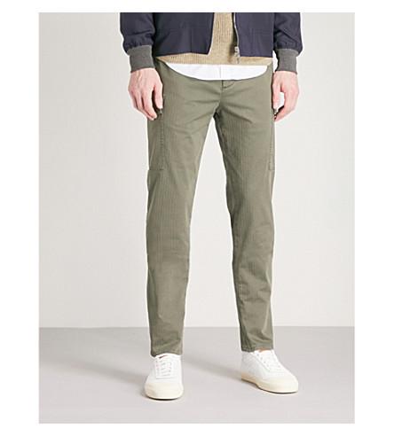 BRUNELLO CUCINELLI Leisure-fit stretch-cotton cargo trousers (Green
