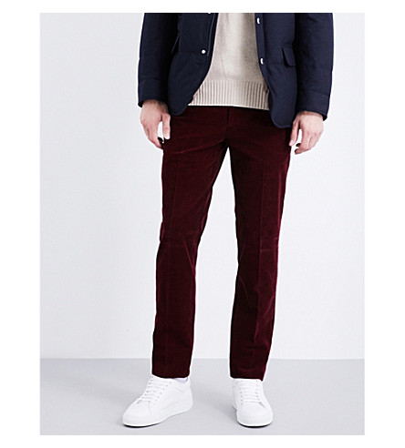 BRUNELLO CUCINELLI Straight corduroy chinos (Red