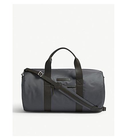 BRUNELLO CUCINELLI 尼龙和皮革运动手提袋 (灰色