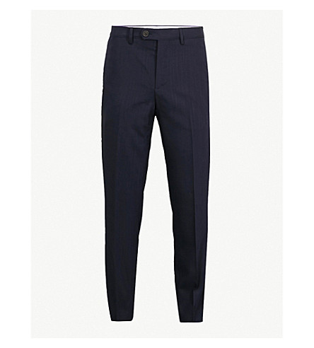 BRUNELLO CUCINELLI Traditional-fit tapered wool trousers (Navy