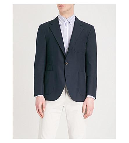 BRUNELLO CUCINELLI Regular-fit wool and cotton-blend jacket (Navy