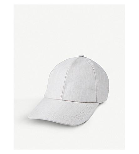 BRUNELLO CUCINELLI Délavé linen baseball cap (Old+white