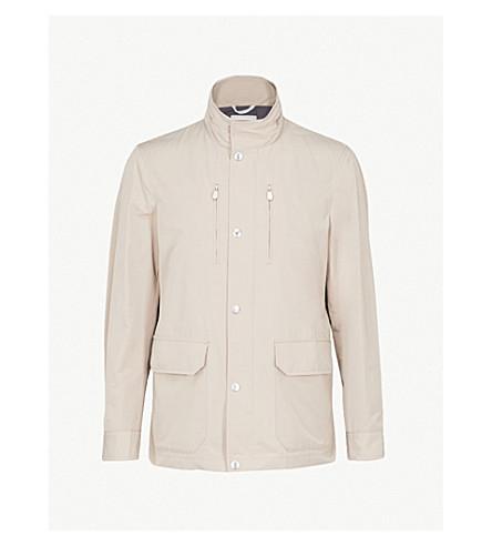 BRUNELLO CUCINELLI Stand-collar shell parka jacket (Stone