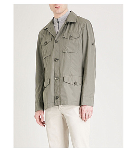 BRUNELLO CUCINELLI Pocket-detail cotton jacket (Khaki