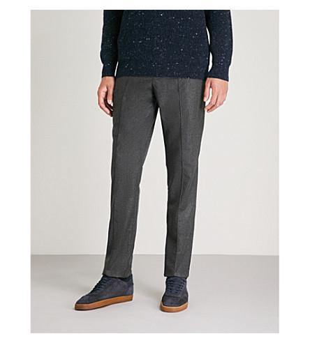 gris BRUNELLO CUCINELLI y de liso de Pantalón ocio lana oscuro franela zzRSdrw