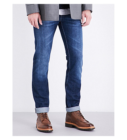 BRUNELLO CUCINELLI Faded slim-fit tapered jeans (Denim