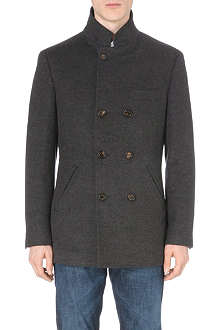 BRUNELLO CUCINELLI Double-breasted wool-cashmere coat