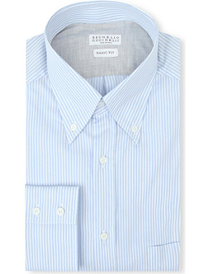 BRUNELLO CUCINELLI Striped single-cuff shirt