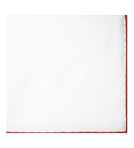 BRUNELLO CUCINELLI Contrast trim cotton pocket square (Multi