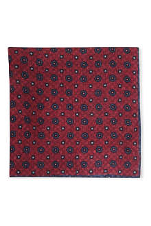 BRUNELLO CUCINELLI Reverse print pocket square
