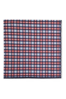 BRUNELLO CUCINELLI Plaid print pocket square