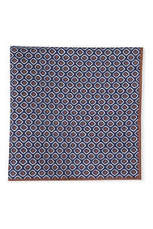 BRUNELLO CUCINELLI Retro graphic pocket square