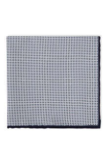BRUNELLO CUCINELLI Micro square print pocket square