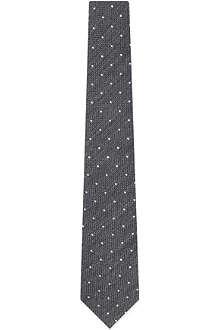 BRUNELLO CUCINELLI Grenadine polka dot print tie