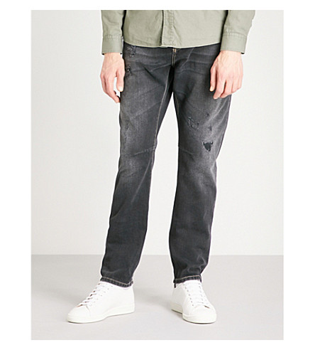 BRUNELLO CUCINELLI Distressed leisure-fit skinny jeans (Grey