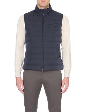 BRUNELLO CUCINELLI Quilted microfibre vest