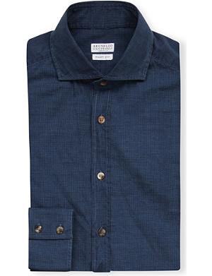 BRUNELLO CUCINELLI Basic-fit cotton shirt