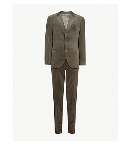 BRUNELLO CUCINELLI Regular-fit corduroy suit (Green