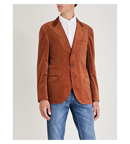BRUNELLO CUCINELLI 常规版型灯芯绒夹克 (橙色