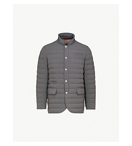 BRUNELLO CUCINELLI Quilted shell bomber jacket (Light+grey