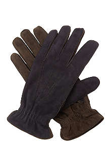 BRUNELLO CUCINELLI Bi-colour suede gloves