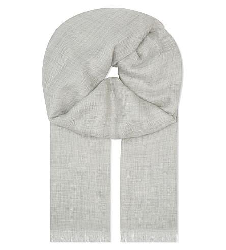 BRUNELLO CUCINELLI Cashmere scarf (Lt+grey